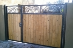 Iron & Wood gate finished in faux bronze & copper