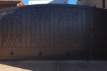 Tuscan style iron gate, privacy gate.