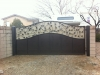 Dual tone powder coated drive gate, vine and leaf inlay. $1499.00