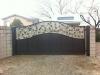 Dual tone powder coated drive gate, vine and leaf inlay. $1499.00