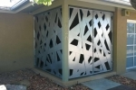Contemporary entry enclosure.