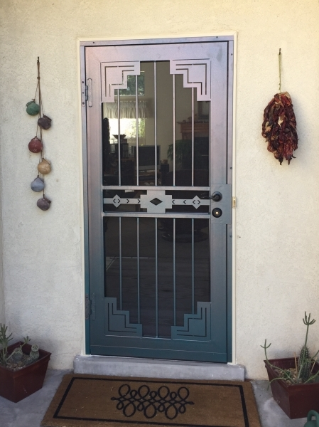 Ordinaire Artisan Series Security Door, Santa Fe In Navajo Copper