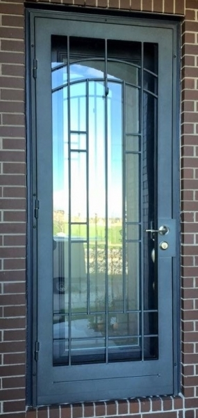 artisan series security iron door stapleton design in wetstone charcoal