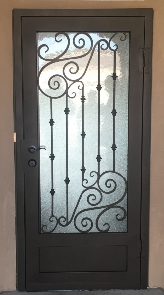 Designer security doors action security iron for Door design of iron