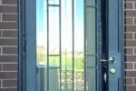 Artisan Series Security Iron Door, Stapleton design in Wetstone Charcoal