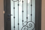 Tuscan Series Iron Security Door, Milan design in oil rubbed bronze.