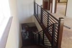 Contemporary interior iron railing, 2