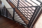 Contemporary interior iron railing, 3