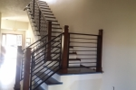 Contemporary iron interior railing 1