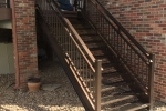 Stairs and railing for deck.