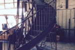 Steel circular stair in fabrication